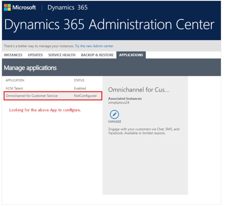 Dynamics 365 Administration Center