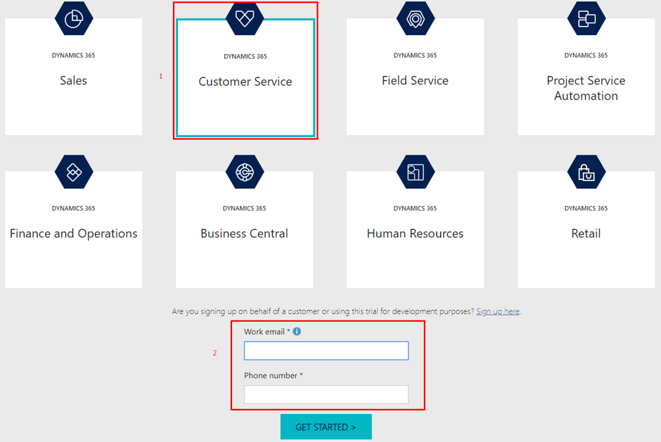 Select the 'Customer Service' option and fill your existing credentials.