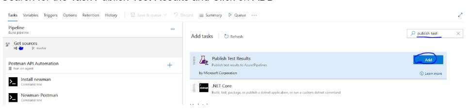 publish test result option page